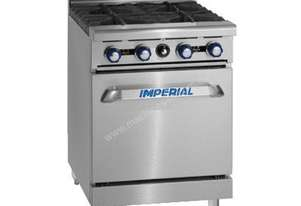 Imperial 4 Burner Gas Range with Space Saver Static Oven
