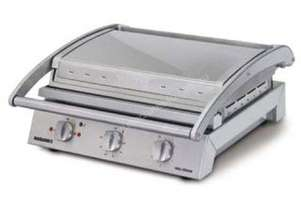 Roband GSA815S Grill Station, 8 slice smooth plates
