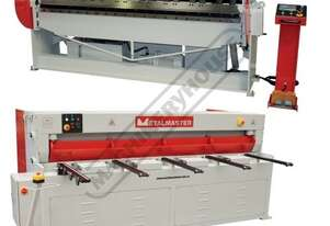 MG-840 & PB-825A Mechanical Guillotine & Hydraulic NC Panbrake Package Deal Guillotine - 2500 x 4mm,