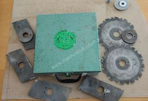 H T Chapman set of adjustable width trenching blades for top and bottom plates