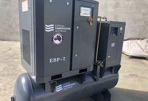 Screw compressor 5.5kW with tank and dryer