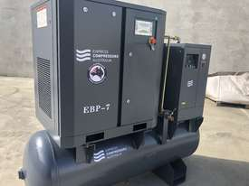 Screw compressor 5.5kW with tank and dryer  - picture0' - Click to enlarge