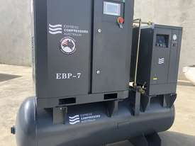 Screw compressor 5.5kW with tank and dryer  - picture1' - Click to enlarge