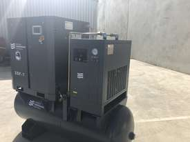 Screw compressor 5.5kW with tank and dryer  - picture2' - Click to enlarge