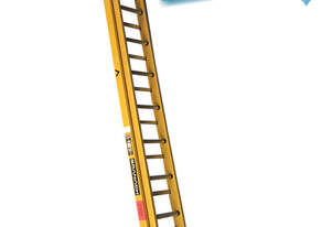 Branach Fiberglass Extension Ladder 4.6 to 7.6 Meter Industrial FED7.6