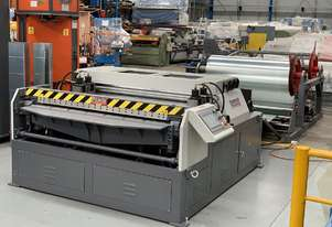 HVAC Auto Line, 1600mm Wide, Decoiler, Straighten, Bead, Notch, Fold & Shear
