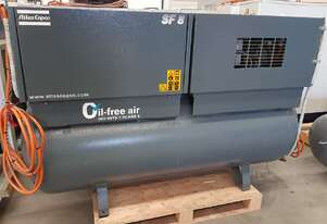 ATLAS COPCO SF8 Oil-Free Silent TWIN SCROLL COMPRESSOR 100% PURE AIR - Food/Medical/Pharmaceutical