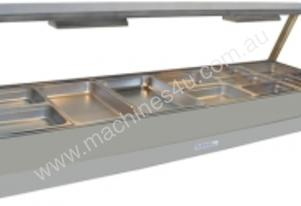 Hot Foodbar Roband E26 Double Row Straight Glass