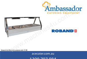 Roband Straight Glass Five Bay Hot Food Display