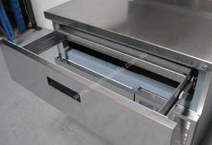 Refrigerated Preparation Dual Rail Serving Table