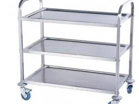 NEW COMMERCIAL STAINLESS STEEL 2 TIER TROLLERY - picture1' - Click to enlarge
