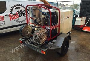 28 hp trailer mount pressure washer for hire