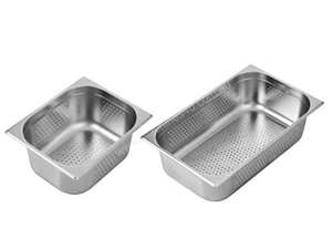 F.E.D. P11150 Australian Style 1/1 GN x 150 mm Perforated Gastronorm Pan