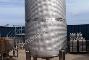 Stainless Steel Jacketed Mixing Tank - 5,000Lt.