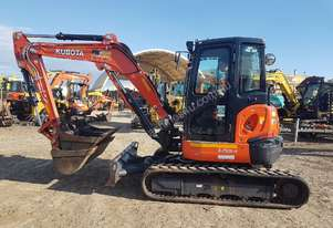 2016 KUBOTA U55-4 WITH A/C CABIN AND LOW 1100 HOURS