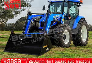 2200 mm 4 in 1 Bucket suit Tractor Front End Loader ATT4IN1