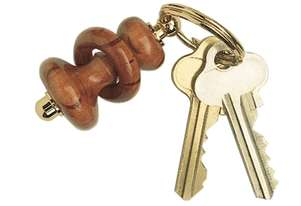Gold Plated Key Ring Kits -5Pack