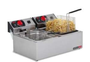 Anvil Fryer Deep Fryer Electric FFA0002 Double Pan