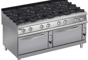 Baron 9PCF/G1605 Eight Burner Gas Cook Top with Two Gas Ovens