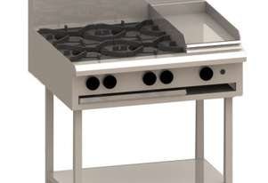 Luus BCH-4B3P 900mm Cooktop with 4 Burners, 300mm Grill & Shelf Essentials Series