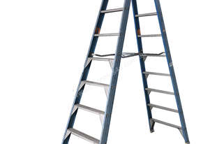 Bailey Fibreglass & Aluminum Step Ladder 3.0 Meter Double Sided Industrial 150 kg SWL