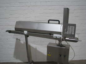 Stainless Steel Variable Speed Motorised Belt Conveyor - 1.3m long - picture1' - Click to enlarge