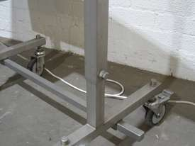 Stainless Steel Variable Speed Motorised Belt Conveyor - 1.3m long - picture7' - Click to enlarge