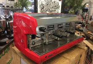 WEGA POLARIS 3 GROUP RED ESPRESSO COFFEE MACHINE