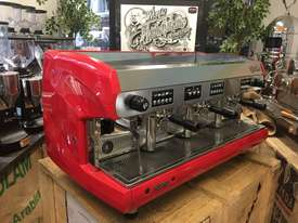 WEGA POLARIS 3 GROUP RED ESPRESSO COFFEE MACHINE - picture0' - Click to enlarge