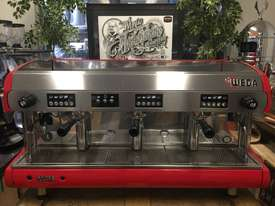 WEGA POLARIS 3 GROUP RED ESPRESSO COFFEE MACHINE - picture1' - Click to enlarge