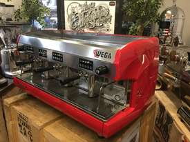 WEGA POLARIS 3 GROUP RED ESPRESSO COFFEE MACHINE - picture2' - Click to enlarge