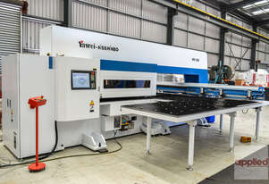New Yawei HPE-3058 CNC Turret Punch Press. Ex stock Melbourne. Siemens 840D & upgraded turret.