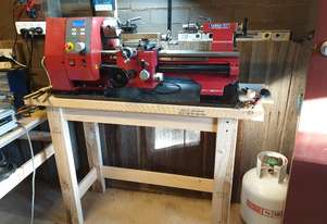 SIEG SC4 Hi Torque Lathe, Bench and Tool Trolley, with accessories.