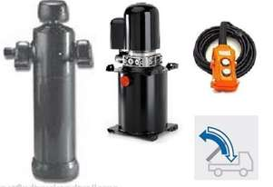 Under body multi stage hydraulic cylinder & 15 Litre 24Volt powerpack suits trailers DNB3065S