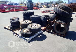 5 X PALLETS COMPRISING OF ASSORTED TRUCK, CAR & MACHINE TYRES & RIMS