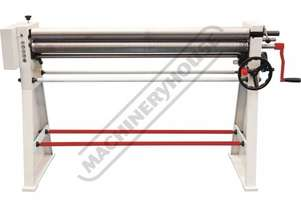 SRG-50E Manual Sheet Metal Curving Rolls 1250 x 1.6mm Mild Steel Capacity 2 Speed Roller Drive Syste