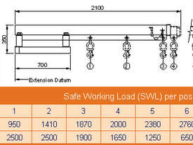 Fixed Jib Long Jib Attachment 2500Kg SWL - picture2' - Click to enlarge