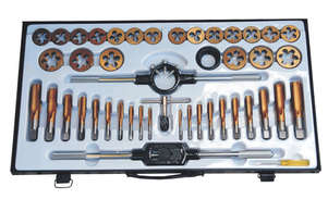 53300 - 45PC TUNGSTEN STEEL TAP & DIE SET SAE