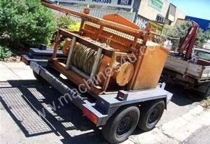 15 Kn hydraulic winch trailer , 3cyl diesel power