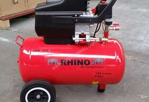 RHINO AIR COMPRESSOR 2Hp 50 Ltr TANK SINGLE PHASE  *ON SALE*