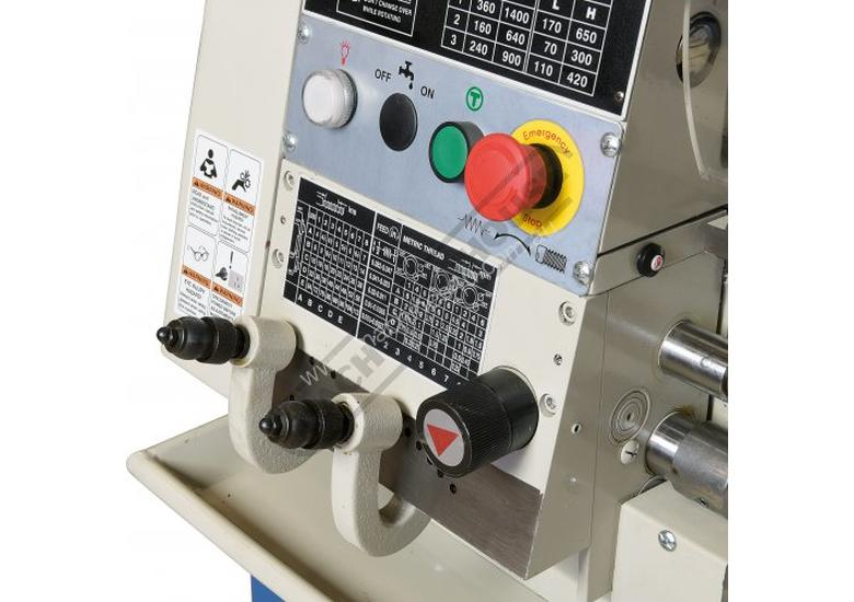 AL-960B Centre Lathe 305 x 925mm Turning Capacity - 40mm Spindle Bore Includes Digital Readout & Cab