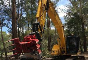 VOSCH HD rotating grapple with saw attachment for 10T to 16T excavators