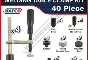 SRK-40 Square & Round Welding Table Clamp Kit