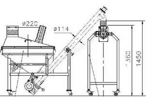 Inclined Auger Screw Conveyor with Round Hopper and Cover
