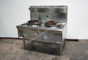 Stainless Commercial Kitchen Gas Dual Waterless Wok