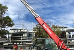 Manitou MT1740 Used Telehandler with Forks & Jib