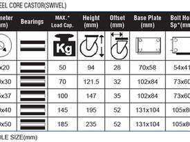 43023 - RUBBER MOULD STEEL CORE CASTOR(SWIVEL) - picture1' - Click to enlarge