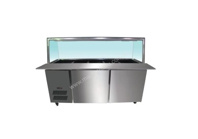 F.E.D. PG210FA-YG Chilled Bain Marie 6x1/1 GN Pans