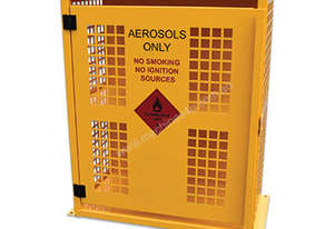 Aerosol Storage Cage – 64 Can. Australian made to meet Australian Standards