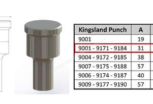 9184 Elongated Punch for Kingsland Iron Worker